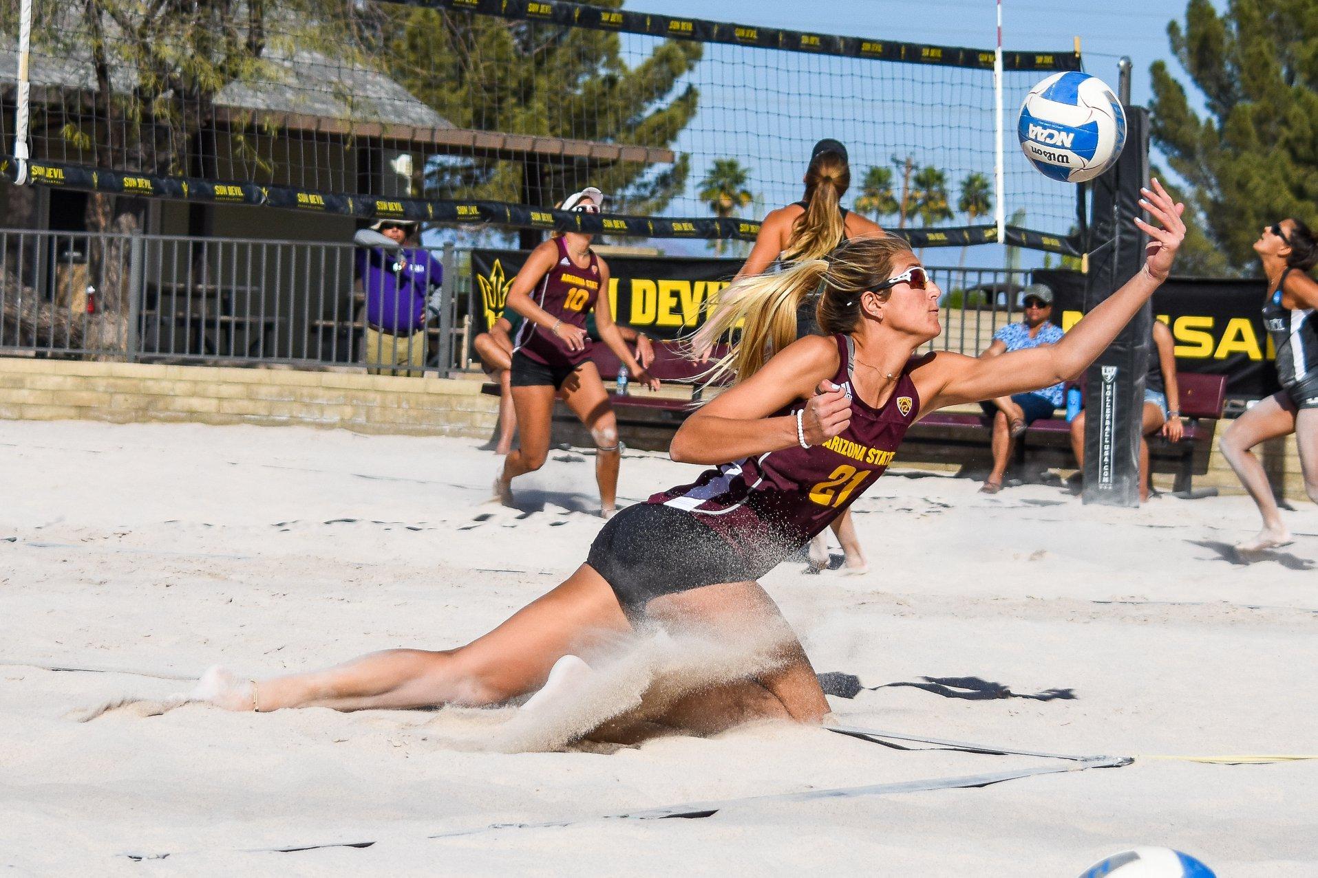 Asu Beach Volleyball Devils Swept At Asu Invitational Cronkite Sports