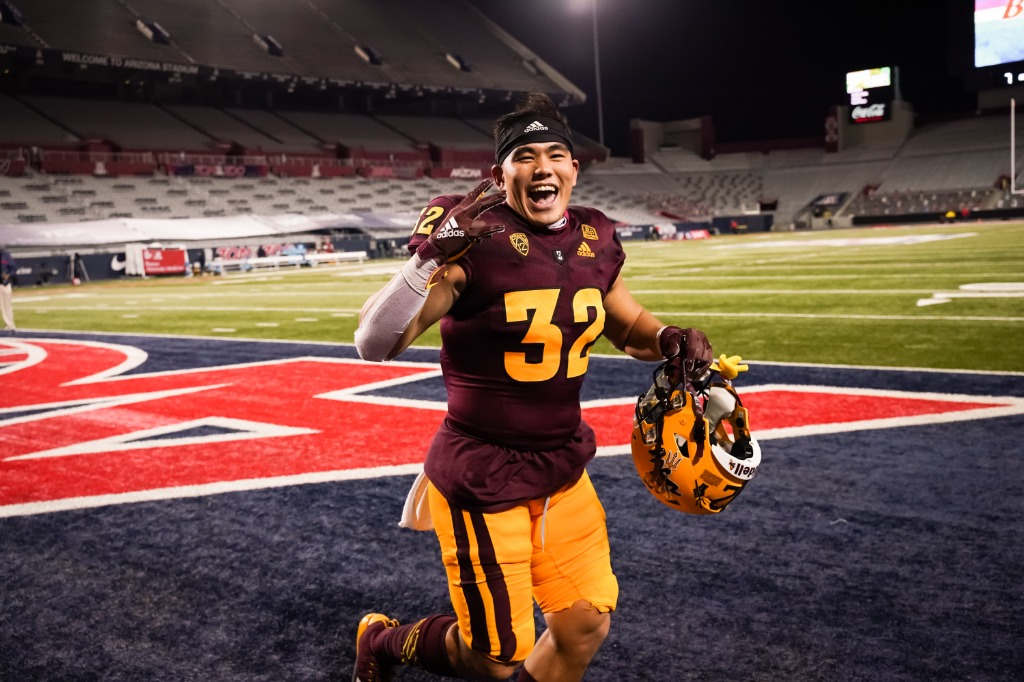 Arizona State's Jackson He Becomes First Chinese-Born Player to Score Touchdown in FBS History